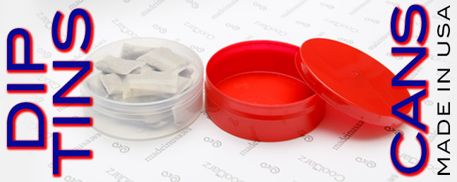 Plastic dip cans and tins at wholesale prices made in the USA