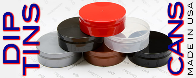 WHERE TO BUY EMPTY PLASTIC DIP CANS, TINS, PACKAGING MADE IN THE USA