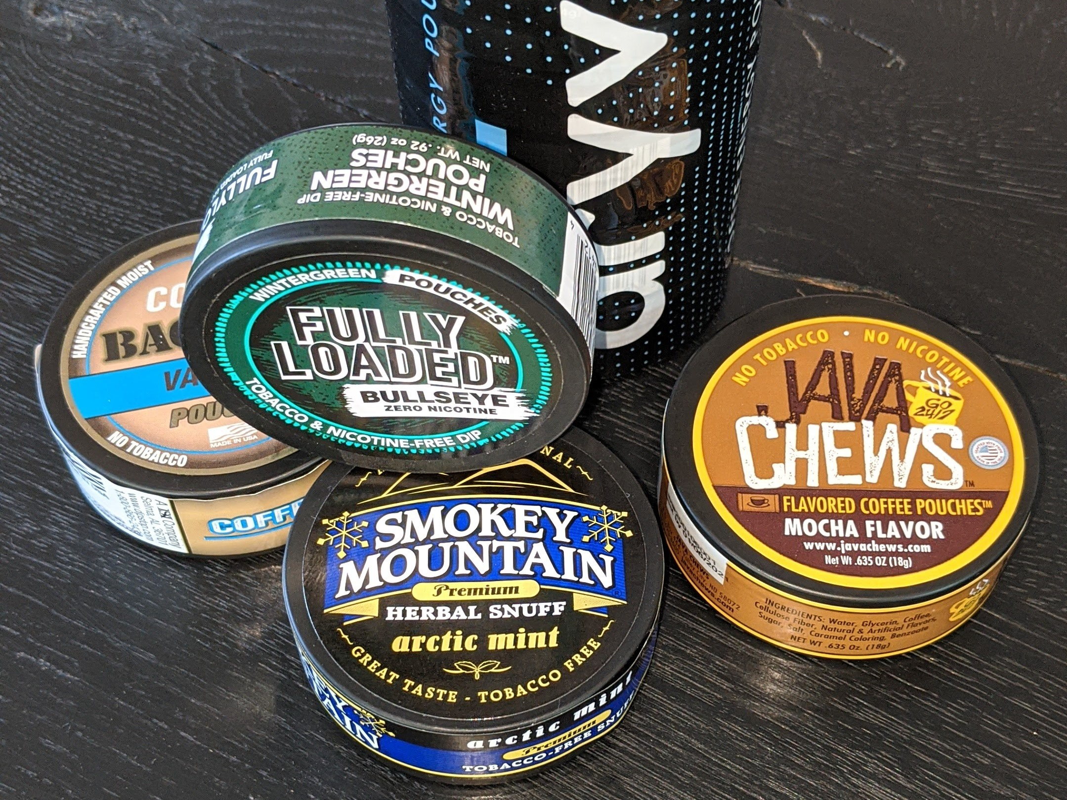 Plastic Dip Chew Cans And Tins For Alternative Smokeless Non-Tobacco Products