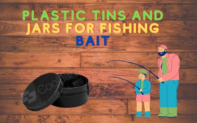 PLASTIC TINS AND JARS FOR FISHING BAIT salmon eggs