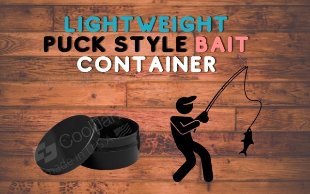 LIGHTWEIGHT PUCK STYLE BAIT CONTAINERS FOR FISHING PLASTIC