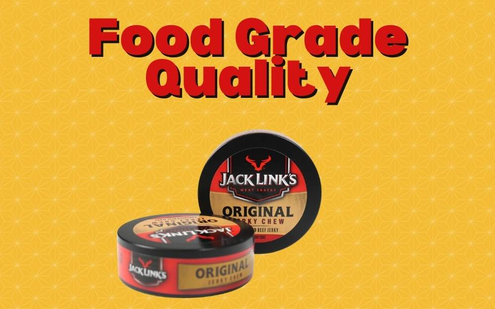 PLASTIC SNUFF CANS FOR BEEF JERKY CHEW Food Grade Quality