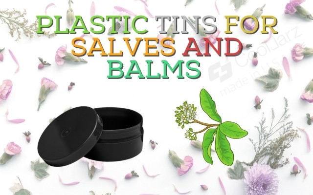PLASTIC 1 to 2 ounce TINS FOR SALVES AND BALMS